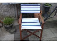Directors folding chair garden chair hardwood frame