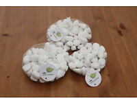 White pebbles, great for gardening or interior decoration