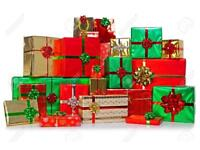 Men!!! I will wrap your Christmas presents for you while you wait!!!