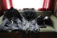 Motorcycle apparel and helmets
