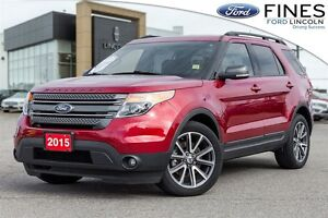 2015 Ford Explorer XLT W/ LEATHER, APPEARANCE & TOW PACKAGE!