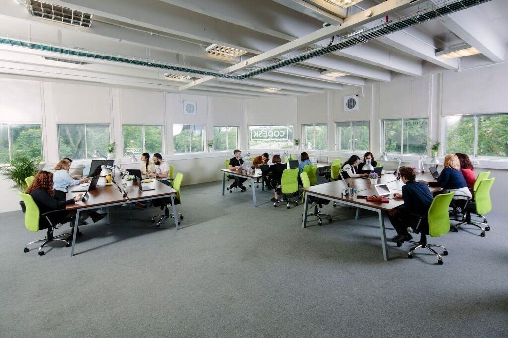 Fixed desk £200 ex VAT per month. Hot desk £12 per day. Spacious co-working environment at Techcube.