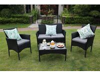 4-Piece Outdoor Rattan Furniture Set