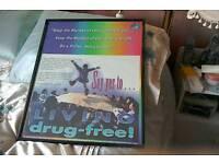 Living drug free poster. Glass and framed. Suit group or support organisation.
