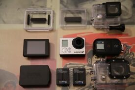 Go Pro Hero 3+ Black Edition + Remote + LCD Screen + Waterproof housing, Excellent Condition