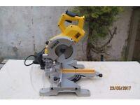 DeWalt DW777 216mm Sliding Crosscut Mitre Saw - 110 or 240