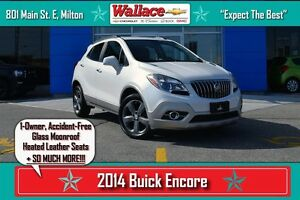 2014 Buick Encore 1-OWNER/NO ACCIDENTS/SUNROOF/NAV/LEATHER/HTD S