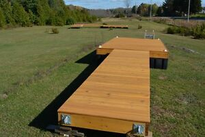 8 x 16 cedar floating dock with a 4 x 16 ramp and 9 dock floats Kingston Kingston Area image 2