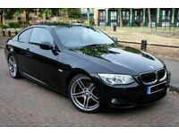 2012 Black BMW 320d coupe M Sport - Red Leather Seats, Semi-Automatic