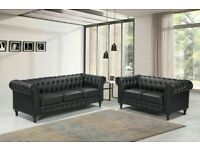 💖🔴AMAZING OFFER🔵💖CHESTERFILED PU LEATHER SOFA 3&2 SEATER SOFA🍁CALL NOW🍁