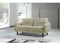 🩸Furniture Hits Home-Mazz 2 Seater And 3 Seater Sofa Plush Velvet In Grey And Cream Color Available