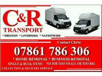 Man and van services. C&R TRANSPORT. PRESTON