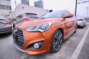 2016 Hyundai Veloster Turbo 1.6 TURBO, NAVI, LEATHER, PANO SUNRO