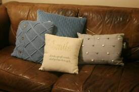 Set of 4 cushions, will sell separate