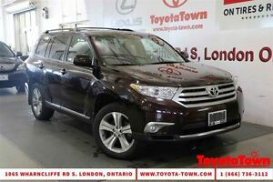 2013 Toyota Highlander V6 AWD 7 PASSENGER SPORT LEATHER & MOONRO