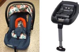 Cosatto car seat 0+ isofix seat