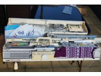 Brother KH881 Knitting Machine & Brother KR850 Ribber/Ribbing Attachment Lot/Bulk