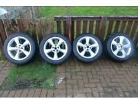 "Genuine Jaguar S-type 17"" x 7.5"" Alloy Wheels and Tyres"