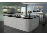 Complete (fully fitted) grey gloss kitchen £2795. Includes 11 x units, appliances and installation.