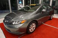 2012 Honda Civic LX - CRUISE - GR ELEC - A/C - BLUETOOTH