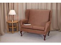 **Brand New** 2 Seater Sofa in a Tan Faux Leather With FREE Chair