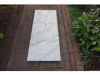 Solid White Marble Hearth 123cm x 55cm x 5.6 cm