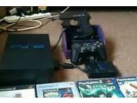 Ps2 fat 4 extra ports 1 controller,Gun con light gun 30 games .