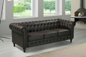 🔵💖🔴Super Sale🔵💖🔴CHESTERFIELD PU LEATHER SOFA 3 SEATER-CASH ON DELIVERY