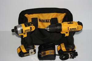 Ensemble perceuse/tournevis a percussion Dewalt (A049042)