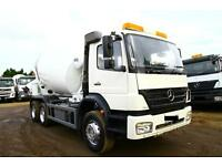 2008 MERCEDES AXOR 2633B 6X4 CONCRETE CEMENT MIXER TRUCK LORRY DRUM LIEBHERR HYMIX PARTS TIPPER 8X4