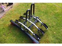 Thule 3 bike rack. Towbar mounted