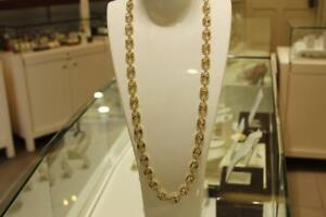 Gucci style chain in 10kt yellow 28 inches 10 mm