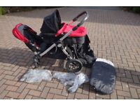 BabyJogger City Select Single/Double with 1 Bassinet kit and Raincovers