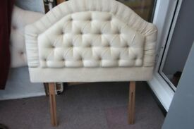 Headboard for 3' single bed. Cream, good condition