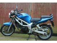 Suzuki Sv650x blue 2001