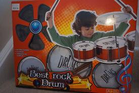 Kids Best Rock Toy Drum Kit - Boxed