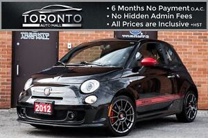 2012 Fiat 500 Abarth ABARTH+5 SPEED+RED LEATHER SEATS+TURBO CHAR