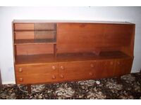 Large teak sideboard / display cabinet