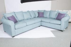 CANADIAN MADE SECTIONAL SOFAS FULLY CUSTOM IN FABRIC | FABRIC SECTIONAL SALE | CITY OF TORONTO (BD-468)