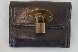 Unique Mulberry Brown Leather Purse