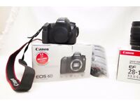 Canon 6D and EF 28-135mm f/3.5-5.6 IS USM Lens + 64gb card + bag