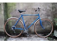 NSU SUPER DE LUXE, 22.5 inch, 57 cm, vintage gents dutch style mixte frame road bike, 5 speed