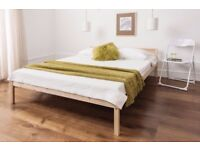 Brand New Pine wood double bed frame