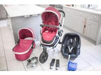 ICandy Peach Jogger / All Terrain in Cranberry (red) - BRAND NEW SEAT!!!