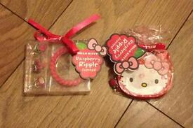 Hello kitty scented purse and bracelet new 50p each