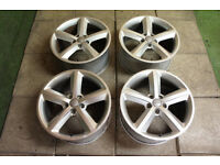 "Genuine AUDI 18"" TT MK2 5-Spoke Alloy wheels 5x112 A8 A6 TTS VW rims"