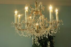 Marie Therese Large elegant 8-Arm, 9-Light, Lead crystal chandelier