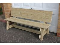 NEW, HANDMADE FURNITURE, WOODEN GARDEN/PATIO BENCH 1.8m