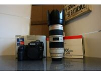 Boxed Canon EOS 5D Mark II SLR Camera & Boxed 70 - 200 f2.8L IS USM Lens
