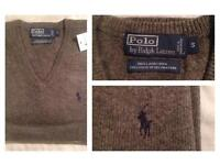"Men Ralph Lauren V neck Lambswool jumper ""last 4 left"""